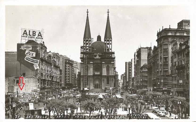flecha grossa1958-prac3a7a-da-sc3a9-e-catedral-inacabada-foto-postal-colombo-delcampe